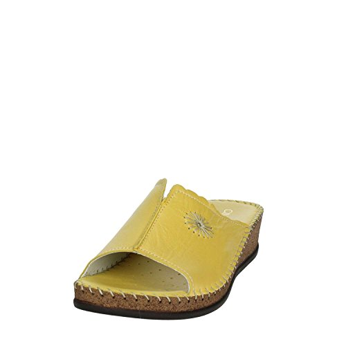 004 Cinzia Women Soft IU804P Yellow Clogs qAfYS