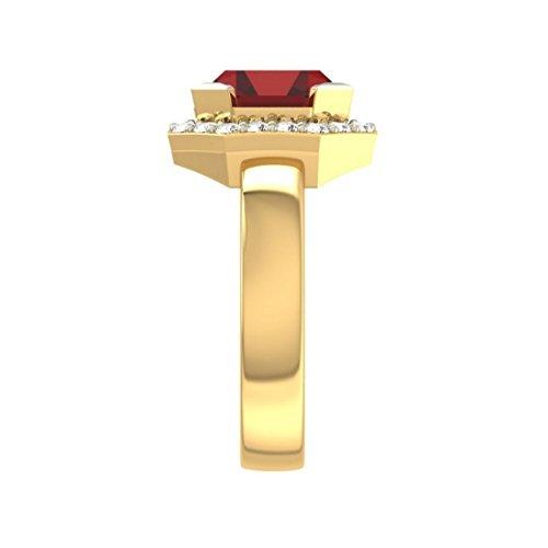 Or jaune 18K, 0,28carat Diamant Taille ronde (IJ   SI) Semi précieux Topaze et diamant Bague
