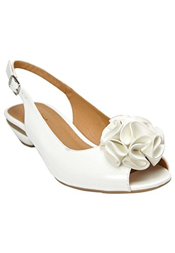 Comfortview Womens Wide Del Pumps White