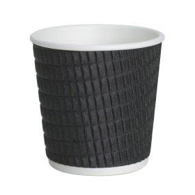 4oz (120ml) Black Ripple Espresso Takeaway Cups x 100 ...