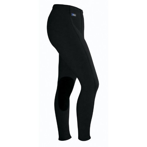 (Irideon Ladies Wind Pro Knee Patch Breech, Black - 1X Regular)
