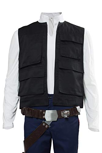 Han Solo Costume Shirt (Cosplaysky Men's Halloween Vest for Han Solo Costume)