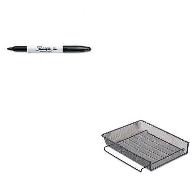 Rolodex Mesh Stackable - KITROL22211ELDSAN30001 - Value Kit - Rolodex Mesh Stackable Front Load Letter Tray (ROL22211ELD) and Sharpie Permanent Marker (SAN30001)