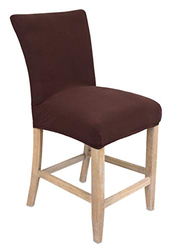 Internet's Best Dining Room Chair Cover | Set of 4 | Stretch Slipover Chair Protectors | Elastic Covers | - Dining Chairs Bar Stools