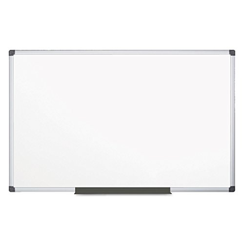 MasterVision Maya Melamine Dry Erase Board with Tray, 48'' x 96'', Whiteboard with Aluminum Frame by MasterVision