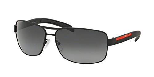 Prada Linea Rossa Men's 0PS 54IS Black Rubber/Grey ()