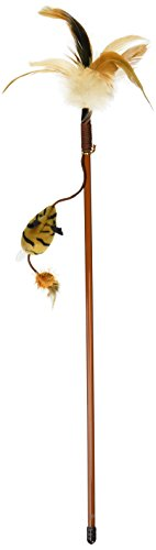 (OurPets Play-N-Squeak Tiger Teaser Play Wand Cat Toy)