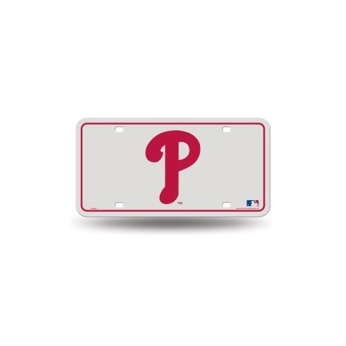 "MLB Philadelphia Phillies ""P Logo""Metal Auto Tag"