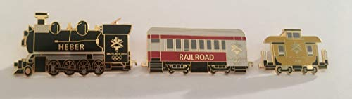 Rare Heber Railroad Locomotive Engine Passenger Car Caboose 3 Pin Set Limited Edition of 500 SLC 2002 Salt Lake City Winter Olympics