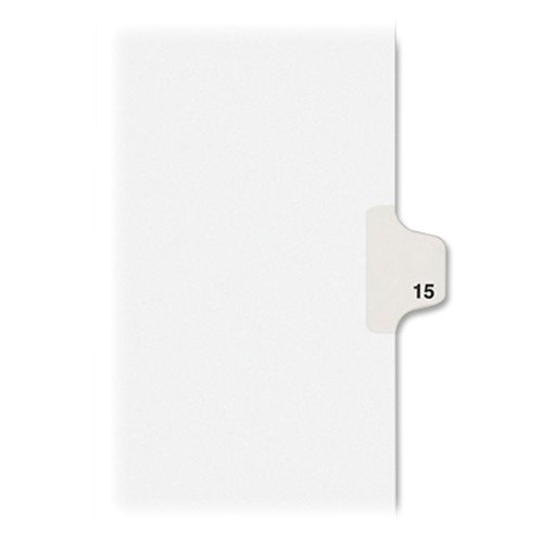 Avery Individual Legal Exhibit Dividers, Allstate Style, 15, Side Tab, 8.5 x 11 inches, Pack of 25 (82213) (Tab 15 Dividers Avery)