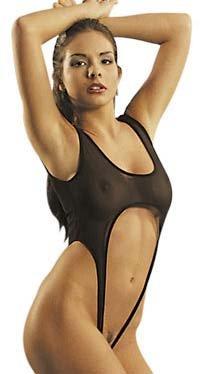 Lingerie Sexy Femme   Body echancre noir ouvert Taille Unique ... 728880ee158
