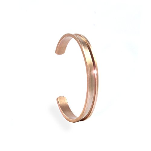 Hair Tie Bracelet by Lucky Lady Collections | Rose Gold Grooved Cuff Bangle (1 Pack) | Women's Fashion Bracelets for Comfort and Style | No-Show Hair Elastic Bangles for Girls - Gold Collection