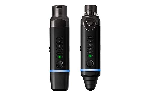NUX B-3 Wireless Microphone System Small Compact Transmitter Snap-On Microphone Small Compact Receiver Snap-On Camera/Cellphone/PA/Mixer/Amp/Audio Interface 100 Feet Walk Rechargeable Battery 2.4GHz by NUX