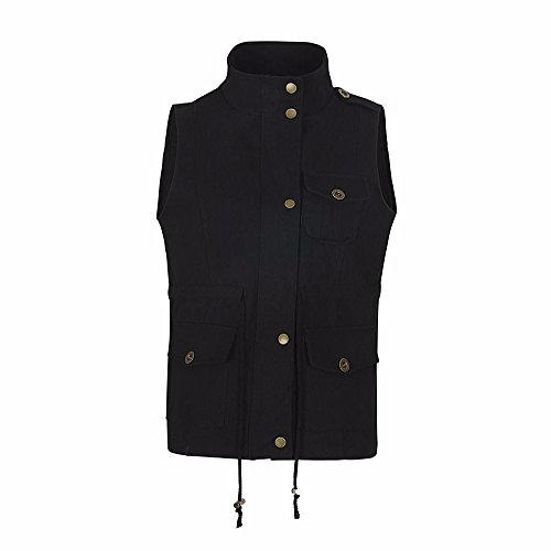 Lowprofile Denim Vest Women Slim Sleeveless Coat Winter Autumn Solid Waistcoat with Metal Buttons Pocket