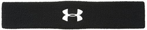 Under Armour Performance Headband, Black (001)/White, One Size