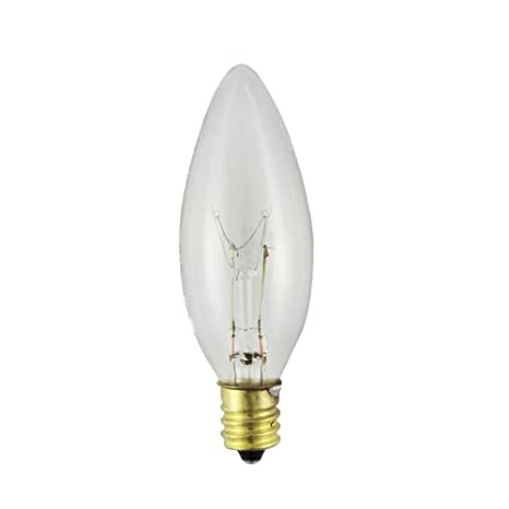 40CTC-P - Volts: 130V, Watts: 40W, Type: B8 Chandelier ...