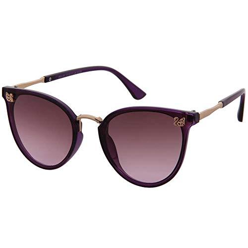 Surdimensionnées Mince Femmes De Pour Designer Filles Uv Ultra Eye Les Et Classique Vintage Cat Ogobvck Lunettes 100 Grandes Purple Protection gwpqC7IYa