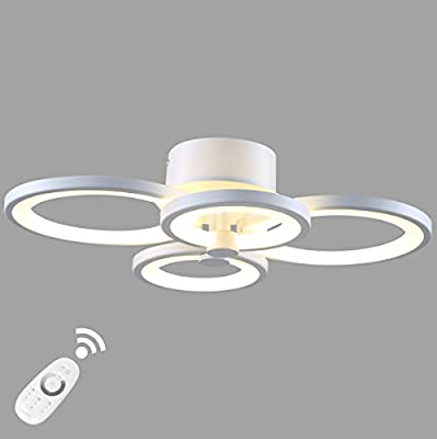 LightInTheBox Dimmable Modern Chandelier LED 40W Acrylic Ceiling Light with Remote Control Flush Mount Painting Lighting Lamp for Living Room Dining Room Bedroom