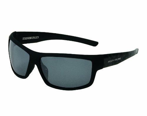 Body Glove Huntington Beach Polarized Sunglass, Smoke Polarized with Silver Mirror Flash/Matte Black - Sunglasses Polarized Glove Body