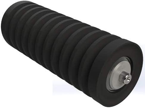 1//4 ga Wall Thickness 42 in Belt Width Impact Troughing Replacement Idler Roller CEMA D 6 in Roller Diameter Steel Material