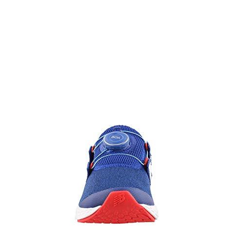 New Balance Boys' N Speed V1 Running Shoe, Team Royal/RED, 13.5 M US Little Kid