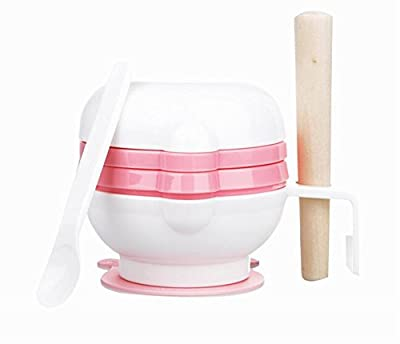 Practical Baby Food Grinding Bowl Grinder Food Mill for Making Baby Food, Pink by Black Temptation that we recomend personally.