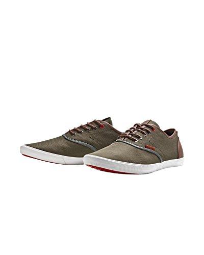 Para hombre Jack & Jones Nailon PU Sneaker Bosque Noche bajo superior bombas de zapatos Zapatillas