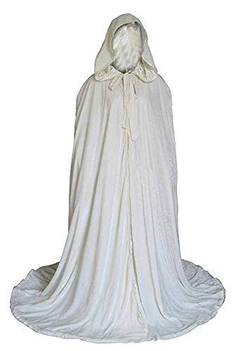 Amazon.com: newdeve Blanco con capucha de Halloween manto de ...