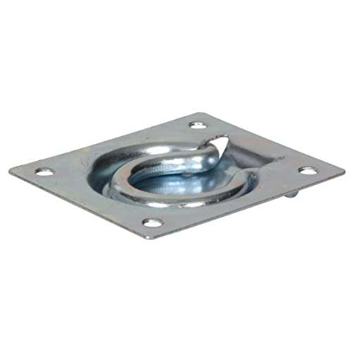 The Hillman Group 851378 3 X 3 1/2 Inch Flush Trap Door Ring, Zinc Plated