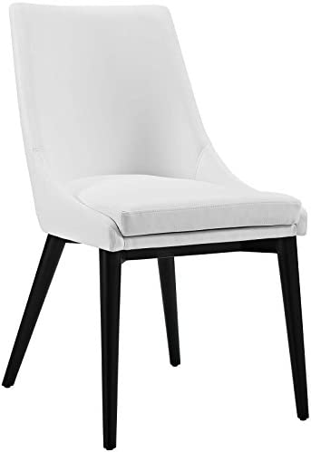Modway Viscount Mid-Century Modern Faux Leather Upholstered Kitchen and Dining Room Chair