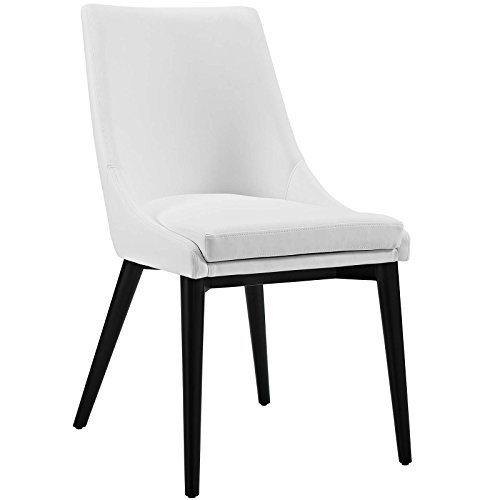 Modway Viscount Mid-Century Modern Upholstered Vinyl Dining Chair In (Modern Vinyl)