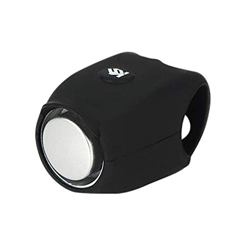 UMFunBicycle Silicone Electronic Horn Accessories Mountain Bike Riding Equipment (Black)