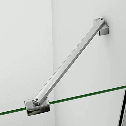 AICA paroi de douche 50x200cm paroi lat/érale /à litalienne en 8mm verre anticalcaire avec barre de fixation 450mm