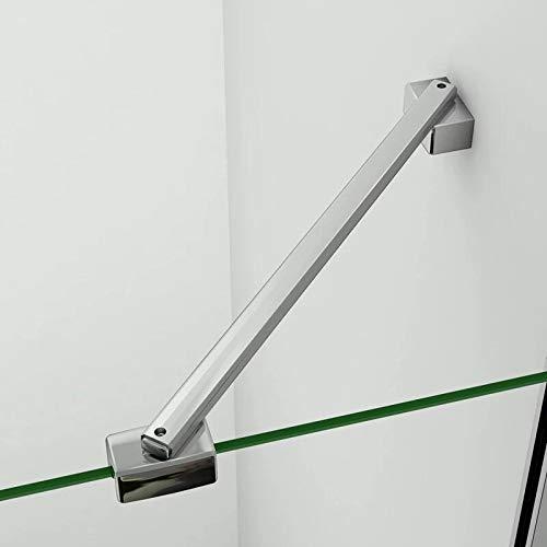 AICA Barra Stabilizzatrice Per Box Doccia Parete Fissa Da Bagno In Alluminio Cromato Lucido 45cm adatta Per Vetro 6-8mm Spessore,ruotabili a 360 qualsiasi