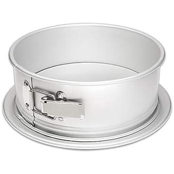 Fat Daddio's PSF-93 Springform Cake Pan, 9 x 3 Inch, Silver