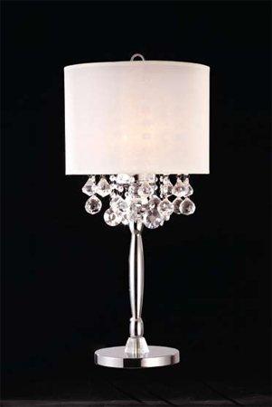 輝くクリスタルシルバーテーブルランプadsok-50110t B004RWSFT0