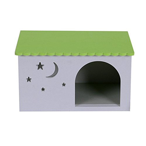 Waterproof Ecological Hedgehogs Boxes Dutch Pig Litter Guinea Pig Nest Rabbit Hole Toy House Chalet Multicolour (Hedgehog House)