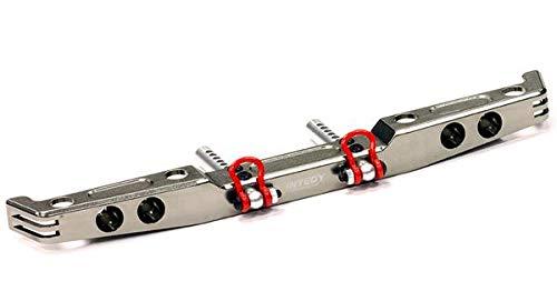 (Integy RC Model Hop-ups C24688GUN Billet Machined Alloy Rear Bumper for Axial SCX-10, Dingo, Honcho )