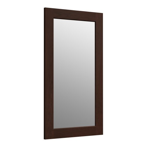 KOHLER K-99666-1WG Poplin 35.5-Inch x 20.5-Inch Rectangular Framed Mirror,  Cherry Tweed - Hardwood Frames Rectangular Mirror