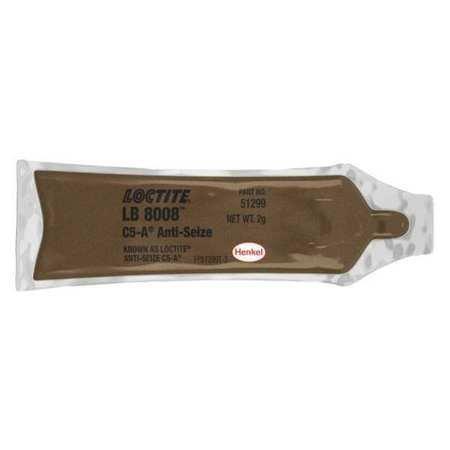 Loctite C5A Paste Anti-Seize Lubricant - 2 g Pouch - Food Grade, Military Grade - 51299 [PRICE is per EACH] (Copper Base Anti Seize)