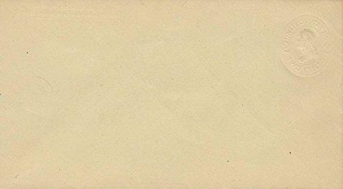 United States Scott U412 2c Washington Oval Die Amber Paper Postal Stationery Envelope Albino. (Amber Oval Post)