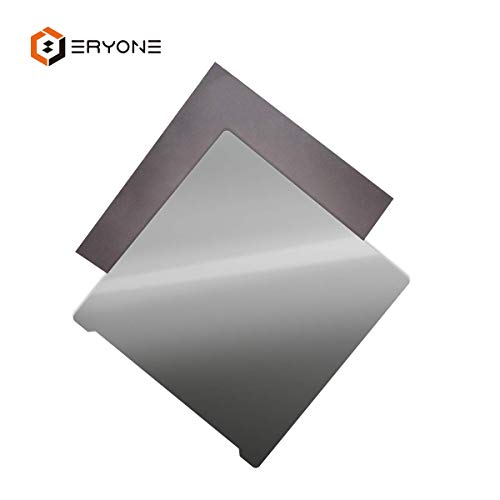 Eryone Maflex Upgrade 3D Printer Platforms, Magnetic Flexible Steel Plate Heated Bed with Sticker for 3D Printer 235x235mm Clear ()