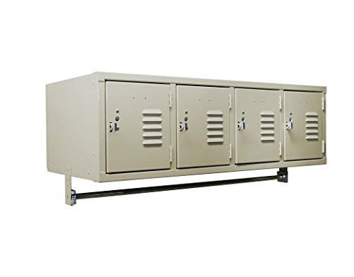 Q04518WM-211 Wall Mount Locker with 4 Openings 45W x 18D x 17H Battle Ship Gray Unassembled