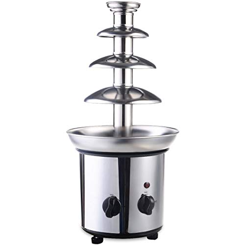 expert store VD-51743HW 4 Tiers Commercial Stainless Steel Hot Luxury Chocolate Fondue Fountain New, 20