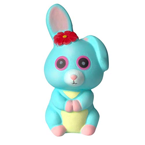 DICPOLIA Toys Relax Squishies Jumbo Halloween Slow Rising Squishy Perfect Squishy Toy for Boys and Girls Adorable Coney (Sky Blue, about12x6x6cm/4.72x2.36x2.36inches)