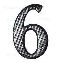 Midwest Fastener MF360200 3.75-9 in. Black House Number