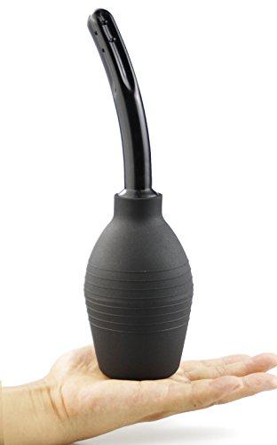 Hisionlee Anal und Vaginaldusche Intim Dusche Klistierspritze Analdusche Analklister - besonders weicher und flexibler Einführstützen (Schwarz 310ml)