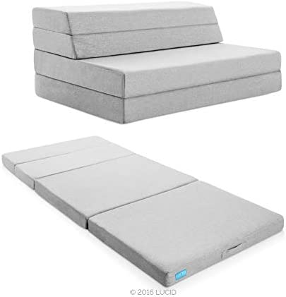 """Lucid 4"""" Folding Mattress & Sofa with Removable Indoor ..."""