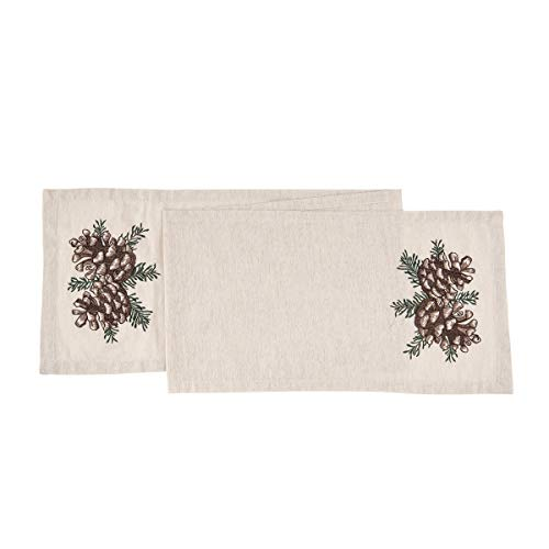 C&F Home Lodge Pinecone Cotton Table Runner 13 x 72 Table Runner