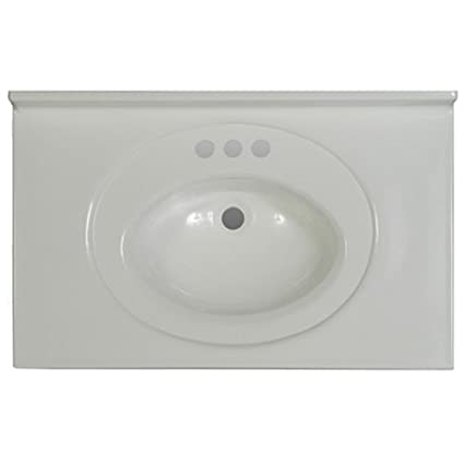 Imperial Vs3119spw Bathroom Vanity Top With Recessed Center Oval